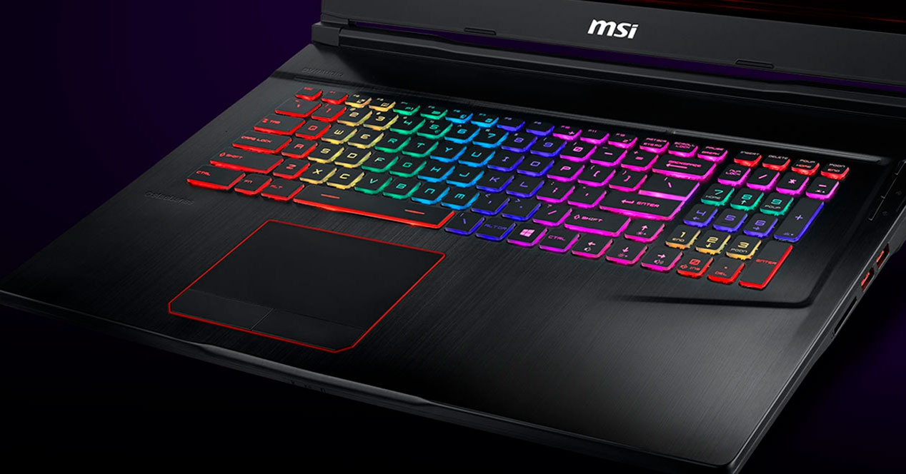 teclado laptop gaming msi